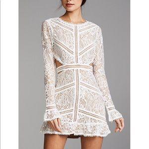 For Love & Lemons White Cutout Dress Small